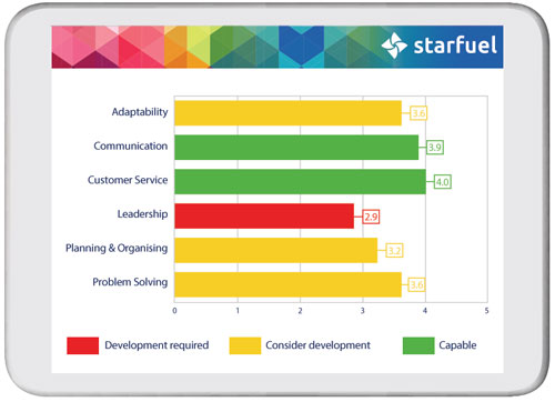 Strengths and Development Needs graph
