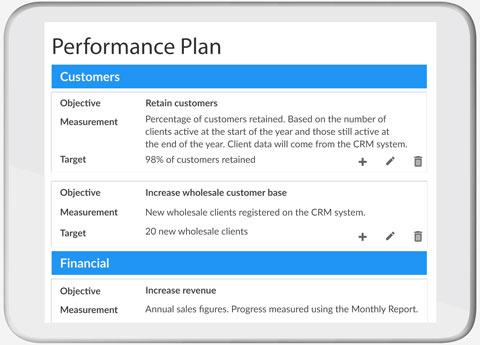 Performance Plan screenshot
